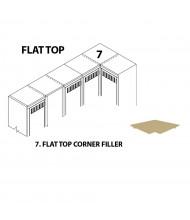 Tennsco Flat Top Corner Fillers (Shown in Sand)