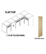 Tennsco Flat Filler Panels (Shown in Putty)