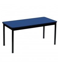 Correll Color Laminate Library Utility Table (Shown in Blue)