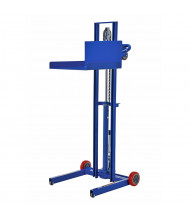"Vestil 48"" to 58"" Lift 500 lb Load Low Profile Winch Steel Lite-Lifts (Foot Pump with 4 Wheels)"