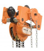 Vestil Gear 1000 to 6000 lb Load Low Headroom Chain Hoist Trolley