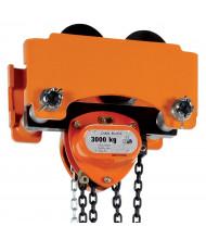Vestil Push 1000 to 6000 lb Load Low Headroom Chain Hoist Trolley