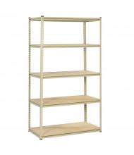 "Tennsco 5-Shelf 24"" D Open-Back Shelving Unit"