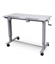 Luxor 2-Student Crank Mobile Sit-Stand Student Desk, (Shown in Grey)