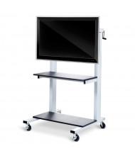 Luxor Height Adjustable Flat Panel AV Cart
