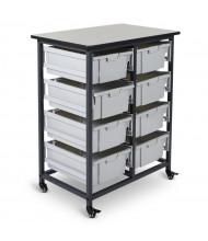 "Luxor 38"" H 8-Drawer Mobile Large Plastic Storage Bin Unit"