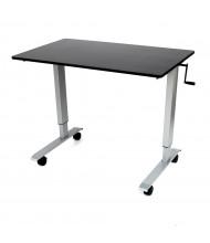 Luxor Height Adjustable Standing Desk (Shown in Black / Silver)