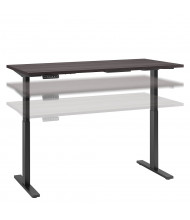 """Bush 60"""" W x 30"""" D Laminate Top Electric 27"""" - 47"""" Height Adjustable Standing Desk (Shown in Grey / Black)"""