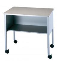 Mayline 2140CA One-Shelf Deskside Machine Cart (Shown in Grey)