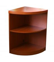 Mayline Aberdeen ABQ2 2-Shelf Quarter-Round Bookcase (Shown in Cherry)