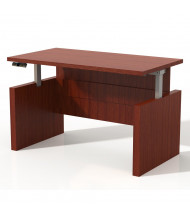 """Mayline Aberdeen 72"""" W Electric Straight Front Height Adjustable Desk (Shown in Cherry)"""