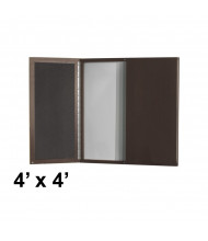 Mayline AVPB 4 x 4 Presentation Conference Room Cabinet (Shown in Mocha)