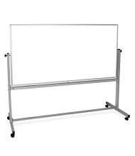Luxor 6' x 4' Painted Steel Magnetic Mobile Reversible Whiteboard
