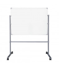 Mooreco Essentials Painted Steel 8' x 3' Magnetic Reversible Mobile Whiteboard