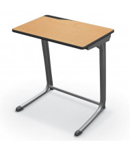 "Mooreco Essentials Edge 25.5"" W x 18"" D Platinum Frame Student Desk (Shown in Maplewood)"