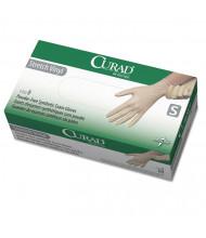 Curad Stretch Vinyl Exam Gloves, Powder-Free, Small, 150/Pack