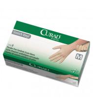 Curad Stretch Vinyl Exam Gloves, Powder-Free, Medium, 150/Pack