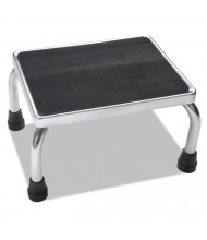 Medline 1 Step Stationary Step Stool, Steel, Chrome/Black