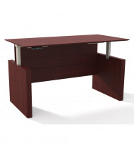 """Mayline Medina 63"""" W Electric Straight Front Height Adjustable Desk (Shown in Mahogany)"""