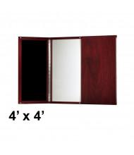 Mayline Medina MNPB 4 x 4 Presentation Conference Room Cabinet (Shown in Mahogany)