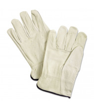Memphis Unlined Pigskin Driver Gloves, Cream, X-Large, 12/Pair