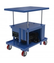 Vestil DC Powered Low Profile 2000 lb Load Post Tables (Chain for Motor Not Shown)