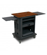 Marvel Vizion Silver Teacher Workstation AV Cart (Shown in Cherry Top/Dark Neutral Base)
