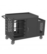Durham Steel Wire Spool Cart Heavy-Duty 1200 lb Load with Cabinet