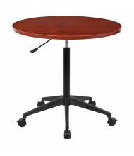 """Boss N30 32"""" Round 25"""" - 34.5"""" H Mobile Height Adjustable Table (Shown in Cherry)"""