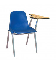 """NPS 11"""" x 23"""" Tablet Arm Student Chair Desk, Left-Hand (Shown in Blue)"""