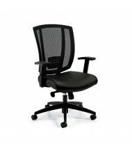 Offices to Go OTG3101 Mesh-Back Mid-Back Luxhide Computer Office Chair