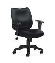 Offices to Go OTG11612B Tilter Fabric Mid-Back Managers Chair