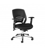 Offices to Go OTG11686B Mesh-Back Fabric Mid-Back Managers Chair - Shown in Black