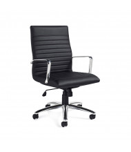 Offices to Go OTG11730B Luxhide Mid-Back Executive Office Chair - Shown in Black