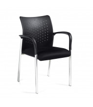 Offices to Go OTG11740B Plastic Back Mesh Stacking Guest Chair with Arms, 2-Pack