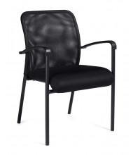 Offices to Go OTG11760B Mesh Mid-Back Guest Chair, Arms