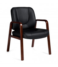 Offices to Go Luxhide Wood Mid-Back Guest Chair