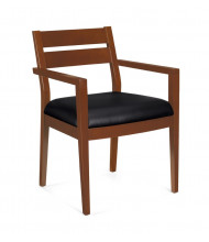 Offices to Go OTG11820B-TH Luxhide Wood Low-Back Guest Chair - Shown in Toffee