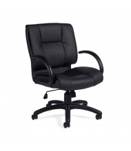 Offices to Go OTG2701 Mid-Back Luxhide Executive Chair - Shown in Black