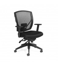 Offices to Go OTG2803 Mesh-Back Fabric Mid-Back Executive Office Chair - Shown in Black