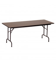 """Correll 48"""" W x 24"""" D x 29"""" H High-Pressure Top Plywood Folding Table (Shown in Walnut)"""