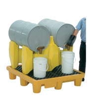 Vestil PDR-2 Two Drum Rack Spill Containment Pallet, 66 Gal, 1500 lb Load