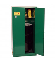 Eagle Self Close Two Door Vertical Drum Pesticides Safety Cabinet, 55 Gallons, Green (Example of Use)