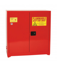 Eagle PI-3010 Self Close Two Door Combustibles Safety Cabinet, 40 Gallons, Red