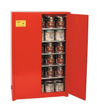 Eagle PI-47 Manual Two Door Combustibles Safety Cabinet, 60 Gallons, Red (Example of Use)