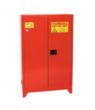 Eagle PI-47LEGS Manual Two Door Combustibles Tower Safety Cabinet with Legs, 60 Gallons, Red