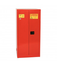Eagle PI-62 Manual Two Door Combustibles Safety Cabinet, 96 Gallons, Red