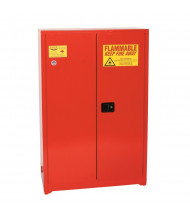 Eagle PI-77 Manual Two Door Combustibles Safety Cabinet, 30 Gallons, Red