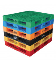 """Vestil 48"""" W x 40"""" L 6600 lb Capacity Plastic Pallet (all colors shown)"""