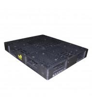 "Vestil 48"" W x 40"" L 8800 lb Capacity Plastic Pallet, Black"